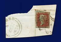 1841 SG8 1d Red Brown B1(1) DE Inverness with Town Postmark Good Used c.£35 coye