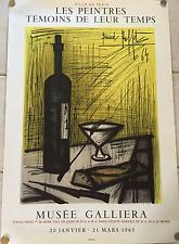 Superbe affiche lithographie Bernard Buffet 1965 Galliera Ch Sorlier Mourlot
