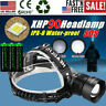 990000LM XHP90 LED Headlamp Zoom USB Rechargeable Headlight Powerful Torch Light
