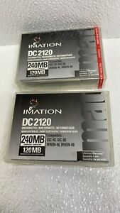 Lot of 2 Imation DC2120, 240MB Compressed / 120MB Uncompressed.