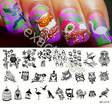 Nail Art Stamping Plate Lovely Owl Pattern Image Template BP-L019 BORN PRETTY