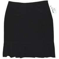 NWT N Touch Women's Petite Black Knee Length Career Skirt Size 10P