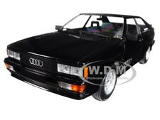 1980 AUDI QUATTRO BLACK METALLIC 1/18 DIECAST MODEL CAR BY MINICHAMPS 155016121