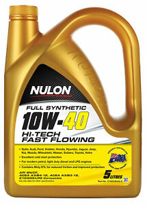 Nulon Full Synthetic Hi-Tech Engine Oil 10W-40 5L SYN10W40-5 fits Smart Forfo...