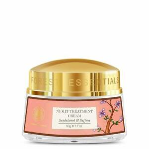 Forest Essentials Night Treatment Cream Sandalwood And Saffron 50 gm