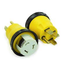 RV Power Cord Adapter 50 amp Male to 50 amp Twist Lock Female Camper Detachable