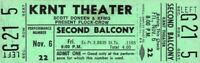 THE FLOCK AND THE CROW BANDS 1970 UNUSED KRNT CONCERT TICKET / NMT 2 MINT No. 4