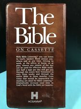 The Bible On 12 Cassettes New Testament King James Version HOSANNA. Nice (C)