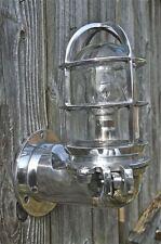 Stylish ocean liner hinged wall light bulkhead lamp polished metal OCL1 N