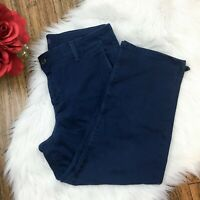 Not Your Daughters Jeans Women's Navy Blue Lift & Tuck Cropped Pants Size 12