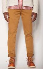 Jachs NY Mens Dark Khaki Bowie Fit Slim Straight Leg Stretch Chino Pants Size 30