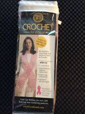 Lion Brand Yarn Crochet For A Cause Pink Scarf Kit New