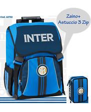 Zaino Estensibile Inter + astuccio 3 zip PRODOTTO ORIGINALE Scuola 2020/21