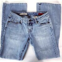 X2 Women's Jeans Size 2 Short Slim Low Rise Flare Leg Light Wash Denim