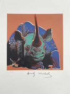 Andy Warhol's Endangered Species, Black Rhinoceros. High Quality Lithograph