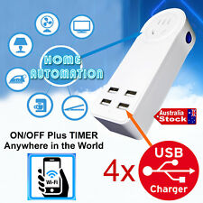 iPhone Mobile WIFI POWER PLUG SOCKET REMOTE CONTROL TIMER 4X USB CHARGER APPs