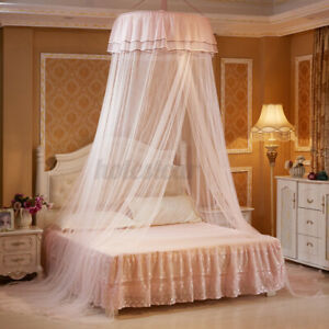 Lace Dome Mosquito Net Canopy Fly Insect Protect Single Entry Double King