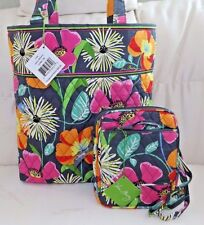 VERA BRADLEY Tote Bag & Mini Hipster - Jazzy Blooms - Brand new with Tags