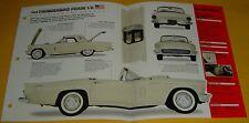 1957 Ford Thunderbird Phase II 2 Convertible V8 312 ci 300 hp Info/Specs/photo