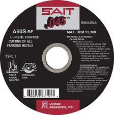 Lot of 25 Sait General Purpose Cutting Wheel 4-1/2 x .045 x 7/8 A60S-BF