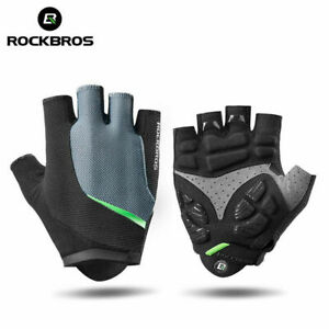 Rock Brothers Cycling Short Half Finger Gloves Gel Liquid Silicone Shockproof