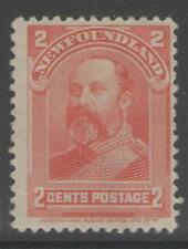 NEWFOUNDLAND SG87 1898 2c SCARLET MTD MINT