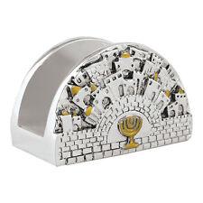 New 925 Ef Silver Jerusalem Business Cards Holder Judaica by Karshi Sale