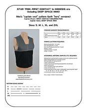 Star Trek Sewing Pattern - Starfleet uniform vest - DS9, First Contact (men's)