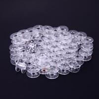 50x Universal Transparenter Kunststoff Leer Spulen Spule Faden für Nähmaschine