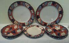 A Wonderful Matched Set of Eight Arita Ware/Imari Plates and Bowls  ca 1930