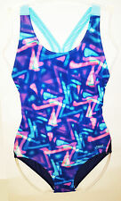 Zoggs Womens Curl Curl Flyback Chlorine Resistant Swimsuit UVA Protection NEW