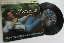 CLIFF RICHARD & THE SHADOWS DREAM    1961 EXTENDED PLAY  COLUMBIA RECORDS