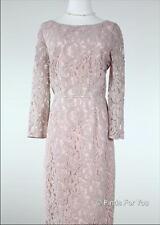 J Crew Natalia Dress Leavers Lace Light Mauve $275 Sz 10 S# A9022 Bridesmaid