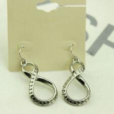 Cute New Silver Forever 21 Infinity Fashion Jewelry Hook Dangle Drop Earrings