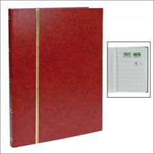 Stamp Albums Stock Books - Wine Red - 16 White Pages