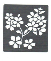 Stainless/Steel/Metal/stencil/Oblong/Ornate/Flower/Floral/Daisy/Blossom/Emboss