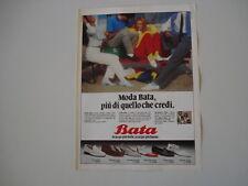 advertising Pubblicità 1981 SCARPE BATA