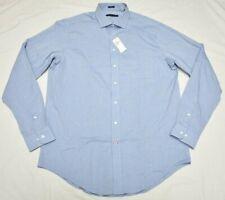 Tommy Hilfiger Dress Shirt Men's Size 17 36/37 Slim Tall Fit Mist Blue P397