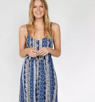 Fat Face Paige Vintage Flora Dress Blue Size UK 8 rrp £52 DH088 KK 15