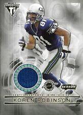 2001 - Pacific - Titanium - Post Season - Jerseys - Koren Robinson - Memorabilia