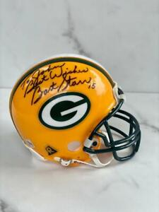 Bart Starr Signed Autographed Green Bay Packers Mini6 '' Helmet
