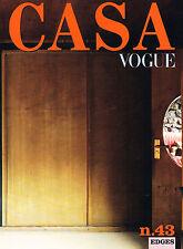 CASA VOGUE Italia #43 CHEZ PROUVE Tomasz Gudzowaty NOT VITAL Villa Tasca @NEW@
