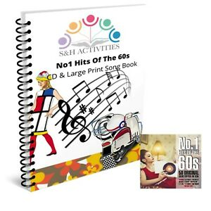 No.1 Hits Of The 60s 2xCD And Large Print Song Book, Dementia Activity