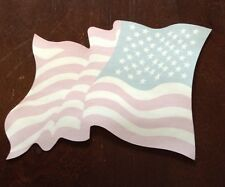 "American Flag sticker  inside mount 4"" x 4 1/2"""