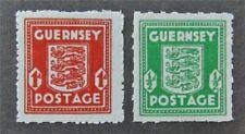 nystamps Great Britain Guernsey Stamp # N4.N5 Mint Og H $37