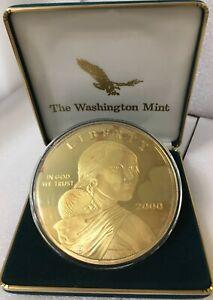 Washington Mint 2000 Giant Quarter Pound 4 ozt Golden Proof Sacagawea
