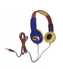 SUPERMAN Headphones Kid Safe Volume Limiting ADJUSTABLE Over Ear DC COMICS New