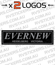 2x EVERNEW Caravan decal, sticker, vintage, graphics, retro