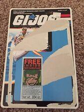 GI Joe Action Figure Full Back File Card ARAH Stalker