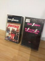 2 X Black Sabbath Cassette Tapes Original NEMS Sabotage We Sold Our Soul